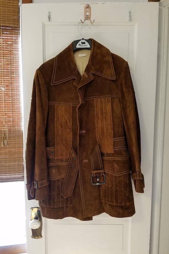 Retro men's 1970's suede jacket