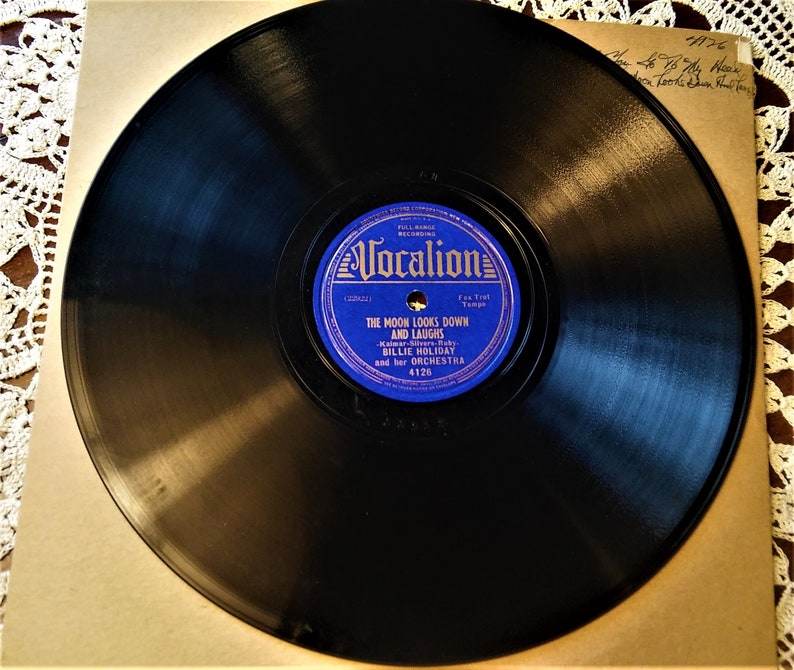 4126 Holiday Phonograph RecordEtsy Vocalion Billie rdWeoBCx