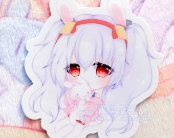 Anime Games 2.5 Azur Lane Chibi Acrylic Charms Cute Adorable Laffey Unicorn Double-Sided Keychains
