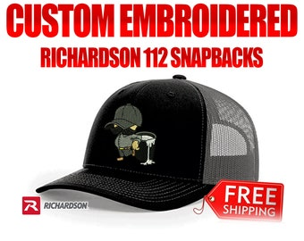 2dc73c1a56d44 Embroidered Richardson 112 snapback hats Custom hats wholesale embroidered  hats