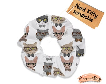cats feline pets grumpy Moody Cat Fabric Hair Scrunchie funny felines womans scrunchies pet lovers cat lover gifts women/'s accessories
