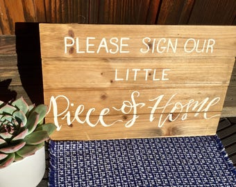 Rustic, Customized Guest Book Sign