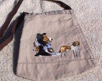 Purse/tote with dogs