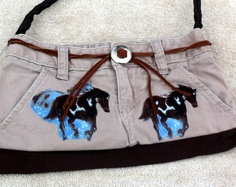 Purse/tote with horses
