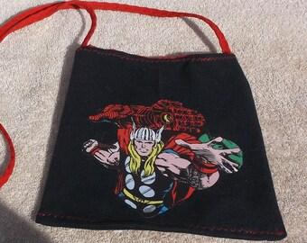 Handmade purse/tote featuring superhero