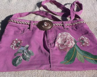 Purse/tote with flower appliques
