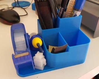 Official Website Stick On Desktop Pen Holder Makeup Storage Pot Case Plastic Desk Organizer Stationery Holder Pencil Vase #921 New Desk Accessories & Organizer