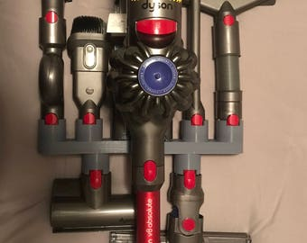 EXCLUSIVE REDESIGN Dyson V7 V8 V10 accessory holders for 6 accessories / no other seller has this version!