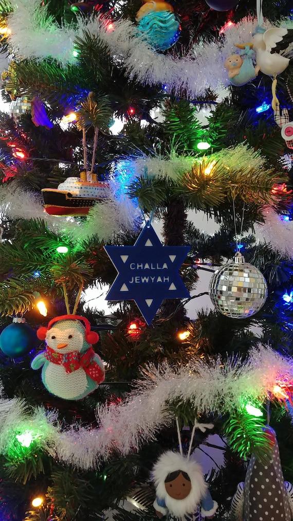 Jewish Christmas tree ornament decoration challajewyah | Etsy