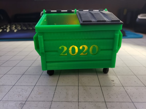 Commemorative 2020 dumpster fire light / funny candle / joke / bad year / tealight
