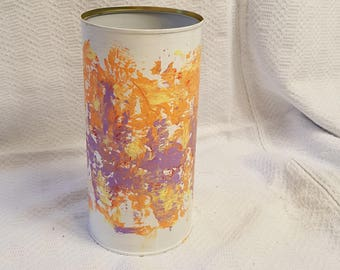 Vase (recycled) with acrylic paint