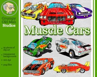 Muscle Car Clip Art Etsy