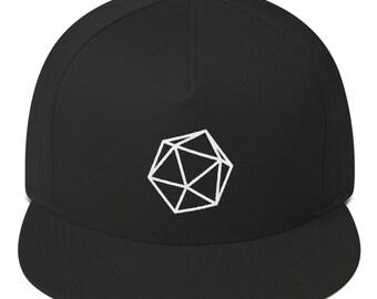 ad51aad01d2 D20 Dice Hat (Flat Bill Snapback Cap) Dnd