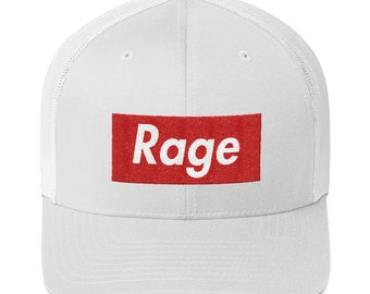 88e10483368a6 Rage Hat (Box Logo Style) Trucker Cap