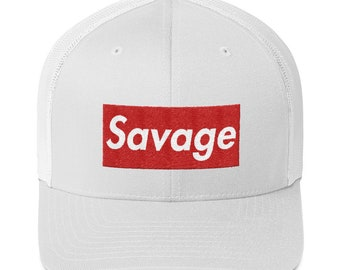 c73216801cd Savage Hat (Trucker Cap) Box Logo Style