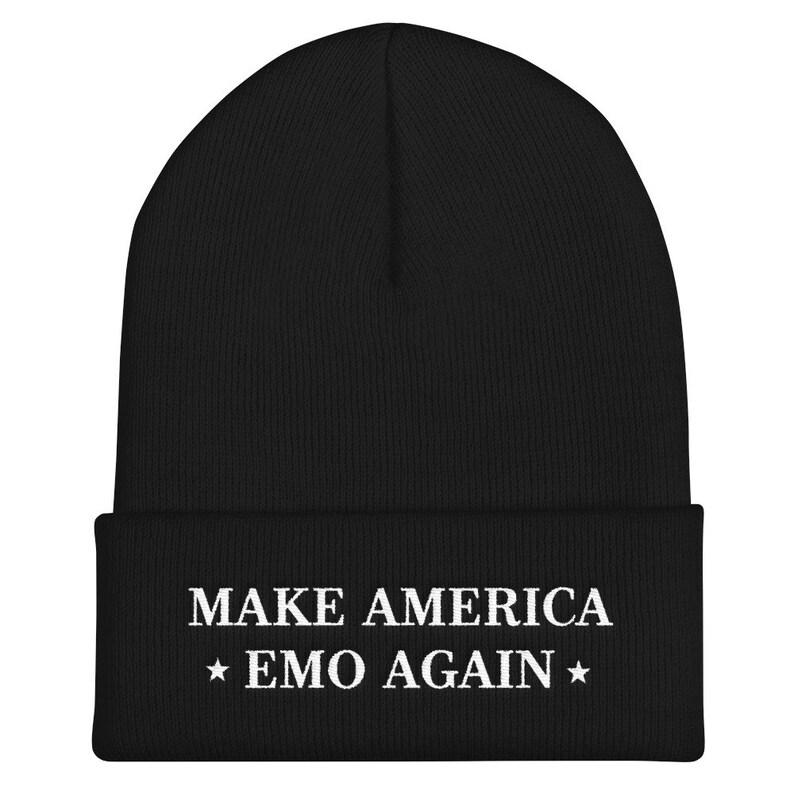 8794da9c22e Make America Emo Again Beanie Cuffed