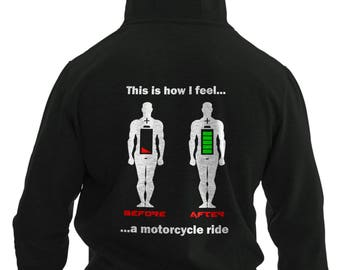 Funny Before and After Riding a Bike Hoodie #R
