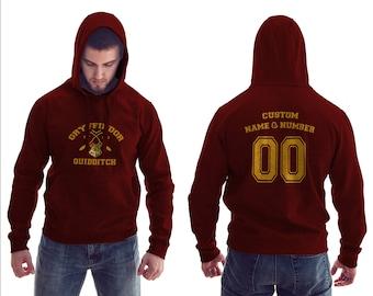 Harry Potter Hoodie Gryffindor Hoodie Gryffindor Quidditch Hoodie Sweatshirt Unisex #R
