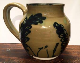 Green Botanical Mug