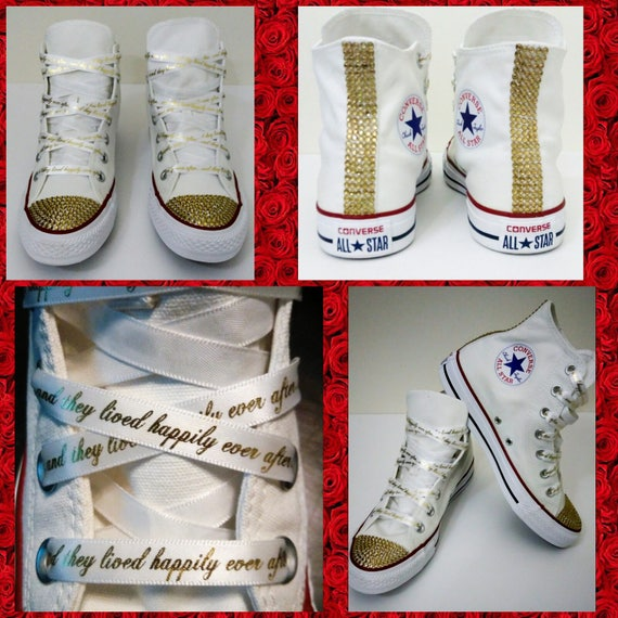 Custom Wedding Converse All Star Chuck Taylor Sneakers  ee6a3fe07dbc