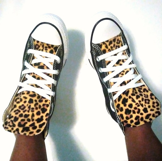 Leopard Print Adult Custom Converse