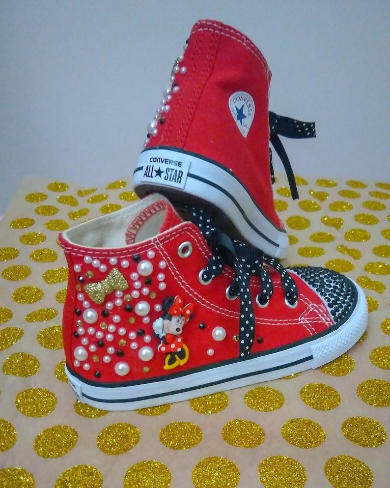 8bb2e6640941 Minnie Mouse Converse Chuck Taylor All Star Kids Custom