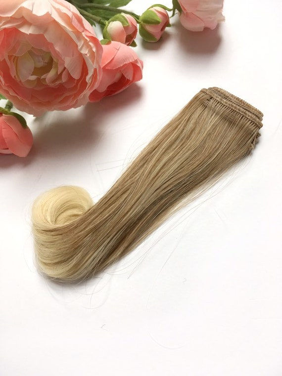 Doll Hair Shaft Lace Wellig Braun Blond Ombre 15 Cm