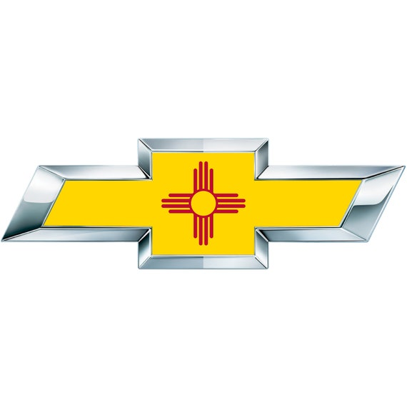2 New Mexico Flag Vinyl Sheets For Chevy Emblem Bowtie Etsy