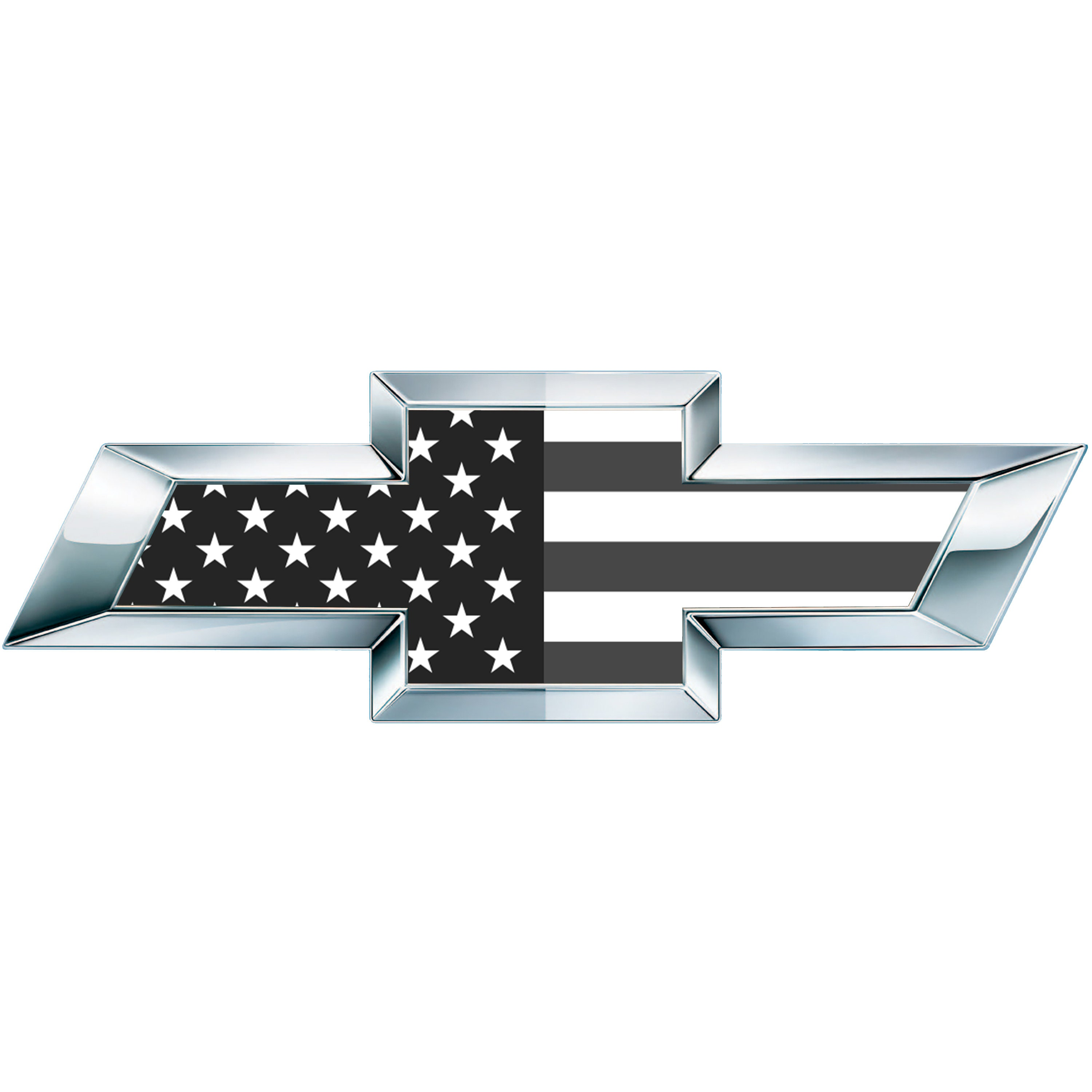 2 Classic Black And White American Flag Vinyl Sheets For