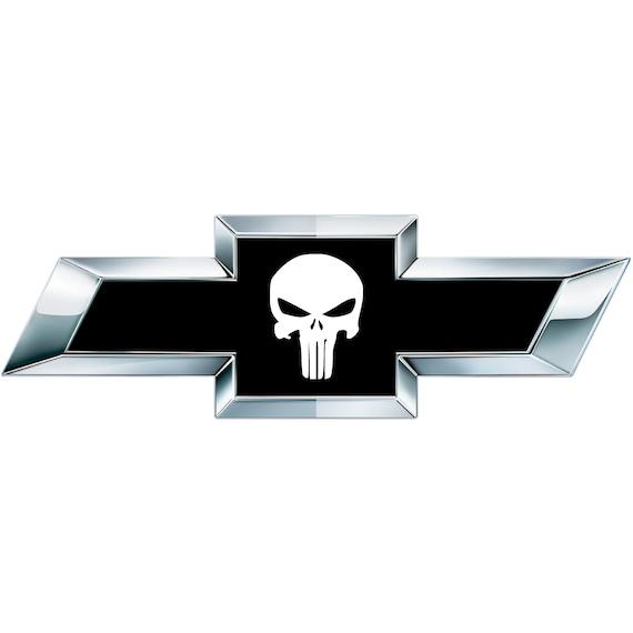 2 Weiße Totenkopf Vinyl Blätter Für Chevy Chevrolet Emblem Etsy