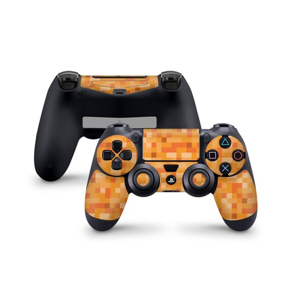 Minecraft Orange Haut Für Sony Playstation 4 Dualshock Wireless Controller Ps4