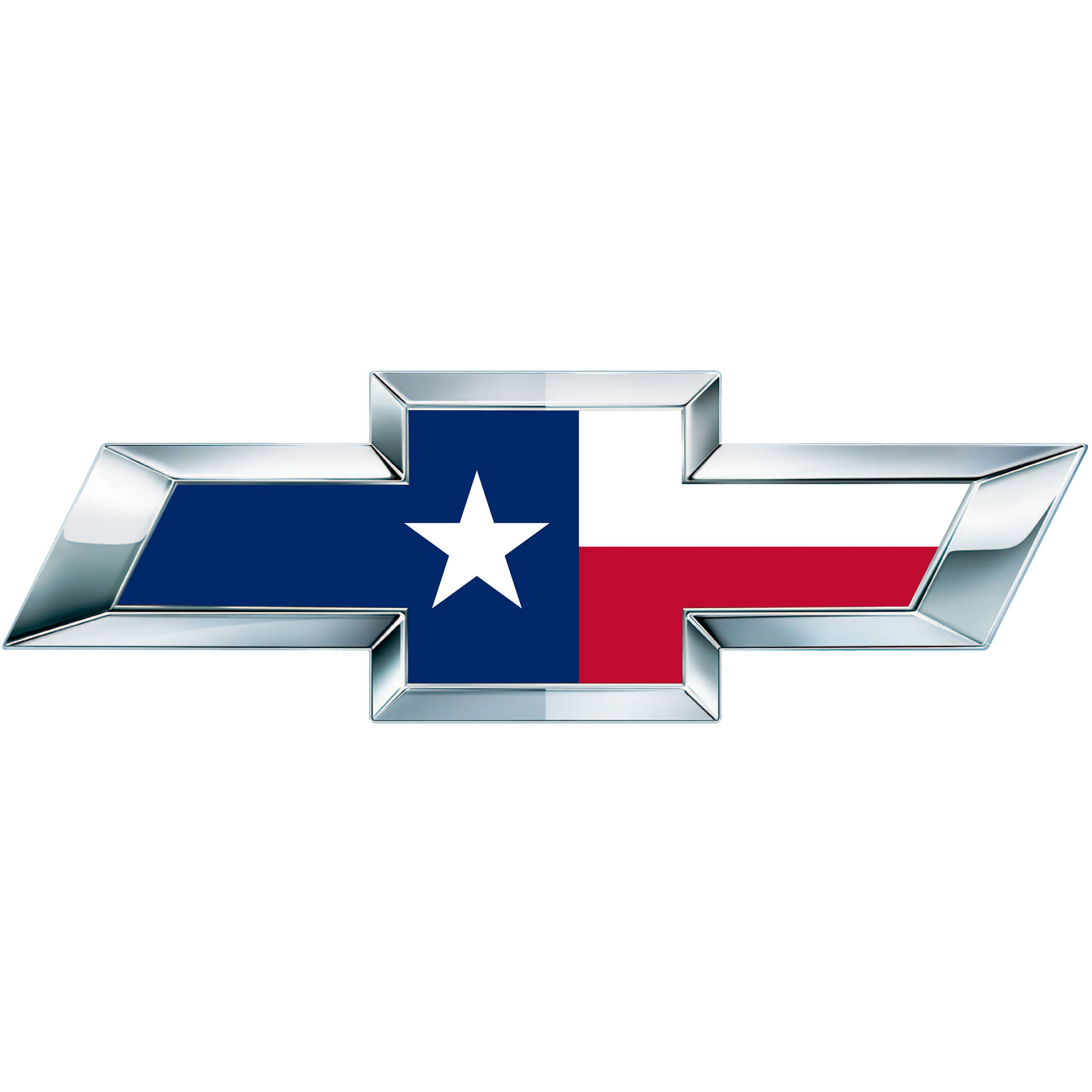 2 Texas Flag Vinyl Sheets for Chevy / Chevrolet Emblem Bowtie Overlay Decal  (Not Pre-cut)