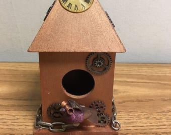 PROTOTYPE Custom Made Steampunk Birdhouse PROTOTYPE
