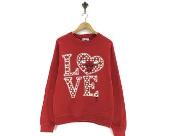 37395c034ccad Vintage NBA Chicago Bulls Crew Neck Sweatshirts Big Logo Prints Jumper  Pullover Sportswear Streetwear Activewear