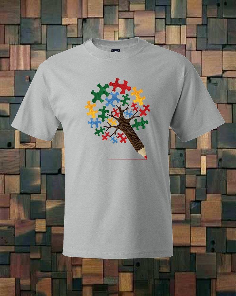 Autism Awareness support printed t-shirt