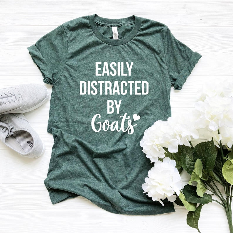 9cb00847f Easily Distracted By Goats Tshirt Goat shirts for women Goat