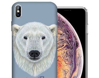 2d55f13b05 Polar Bear iPhone Case - Apple iPhone X / Xs / Xs Max / XR / iPhone 8 / iPhone  8 Plus - Realistic Animal Art Custom Design Cover