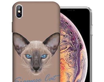 pretty nice 76d3e 68be4 Siamese cat case | Etsy