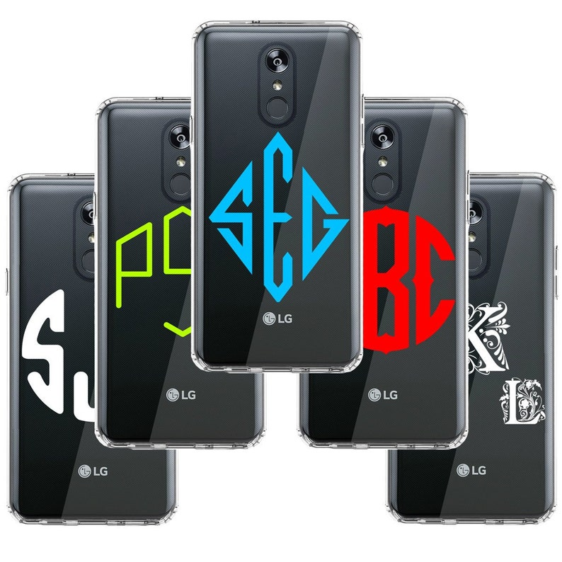 Custom Monogram Case For LG Stylo 4 Plus / Stylo 4 - Personalized Custom  Name Initial Monogram Phone Case Cover