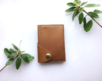 "Slim leather wallet, Leather ID holder, Mens leather wallet, ID card holder wallet, Thin mens leather wallet, Men wallet Raavi ""MoonShine"""