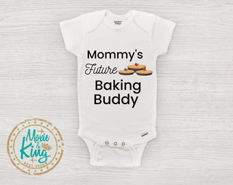 baby baking Cookie baby bodysuit baking onesie funny onesie My Mom is my roll Model Baby Onesie cookie shirt Cookie baby shirt