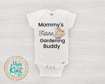 Farming Baby Sprouts Little Corn Plant Locally Grown Baby Bodysuit Gender Reveal Party Farmers Son Gardening D044 Renewable Resource