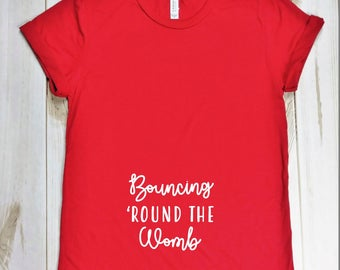 Bouncing 'Round the Womb Maternity T-Shirt