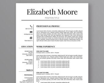 Resume Template | Modern Resume Template | Professional Resume Template | 3 Page Resume | CV Template | Instant Download Resume | MS Word
