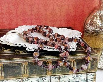 Handmade Garnet Chip Necklace