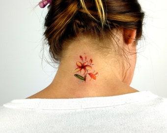 FIMO CLAY Handmade Earring Hawaiian Polynesia Style Plumeria Flower Tribal Tattoo Chandelier Drop Earring BOHO Brown Coco /& Banana Yellow