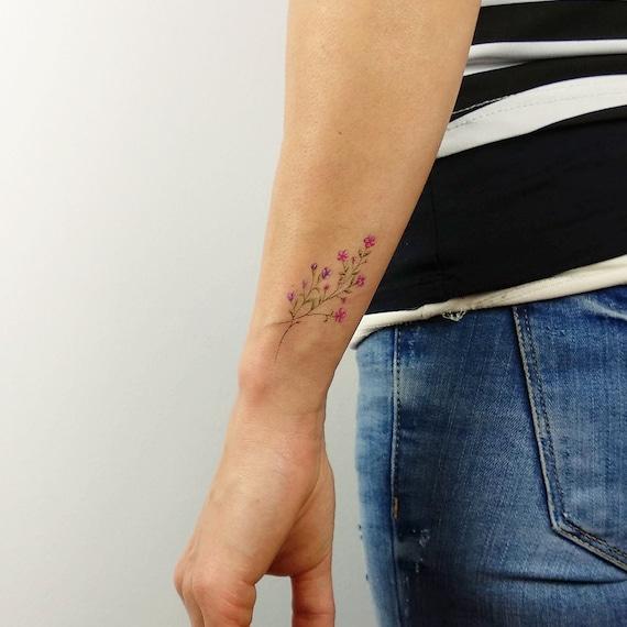 Kwiatowy Tymczasowy Tatuaż Zestaw Przez Mini Lau Zestaw 12