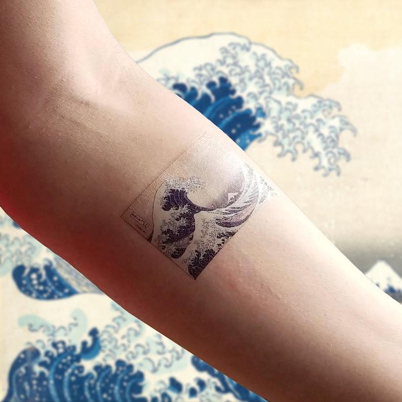 f6ef137bc Hokusai's The Great Wave off Kanagawa Temporary Tattoo | Etsy