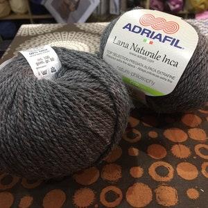 Alpaca and Wool yarn part of the Eco yarn range Adriafil Lana Naturale Inca in shade #80
