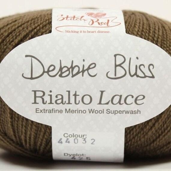Debbie Bliss Rialto Lace yarn in shade #32 Bark 10 x 50g balls